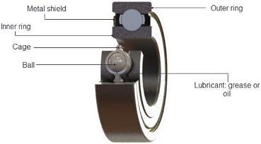 Radial-Ball-Bearing-Cross-Section